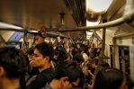 Auf der Abreise dezent voller Skytrain (BTS)