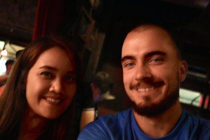 Tem und Ich im Saxophone Pub