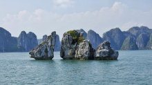 Chicken Rocks Ha Long Bay