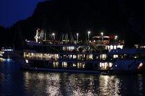 Passing Boat at Night